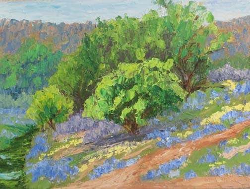 Bluebonnet Hill by Ann McCann (c) 2016