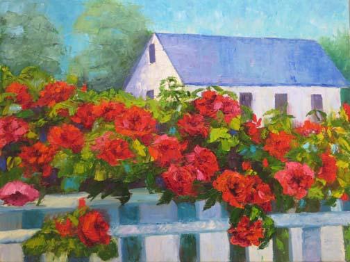 """""""Cape Roses"""" 20 X 24 Oil (c) Ann McCann 2018"""