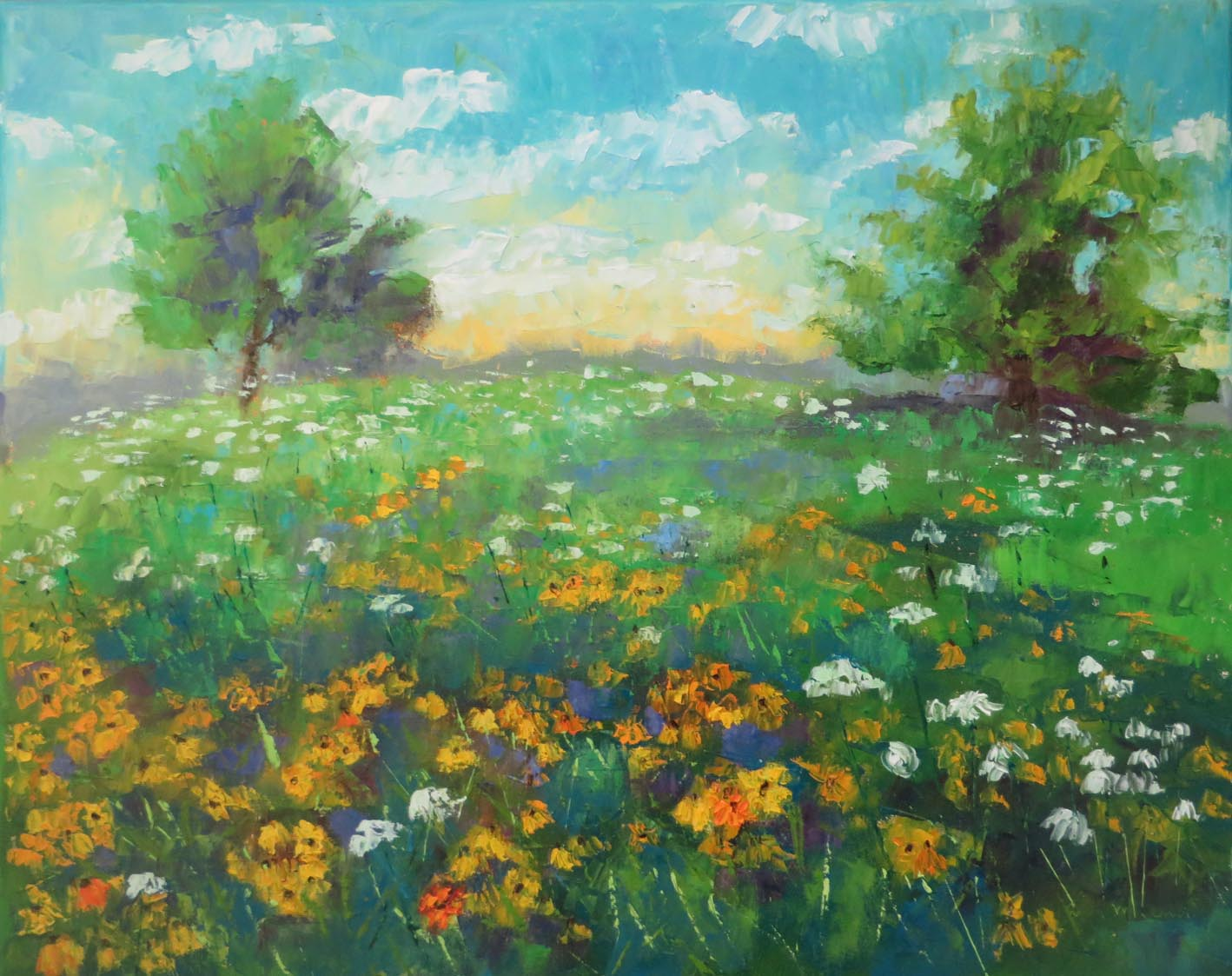 Daisies and Lace by Ann McCann 16 by 20 Oil on Gallery Wrap 72 10.jpg