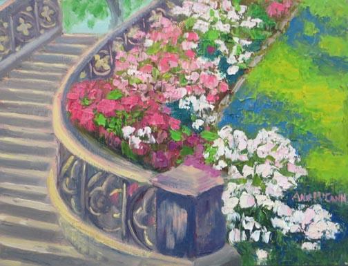 Princess St Park Stairway with Hydrangeas 72 7.jpg