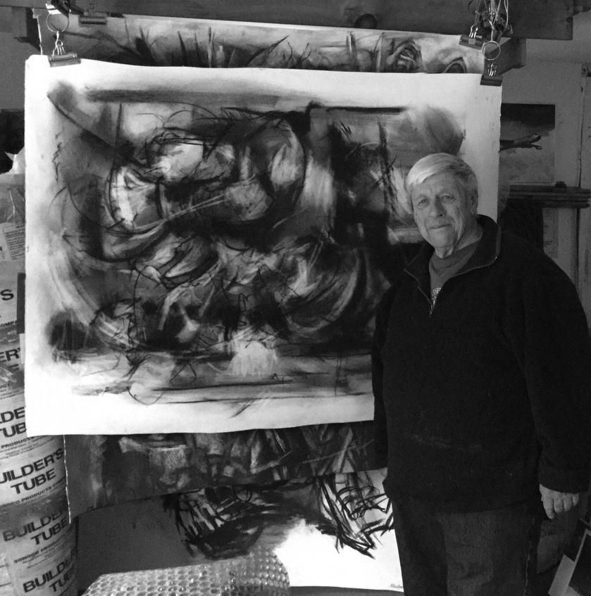 Peter in his studio in Worthington, MA.