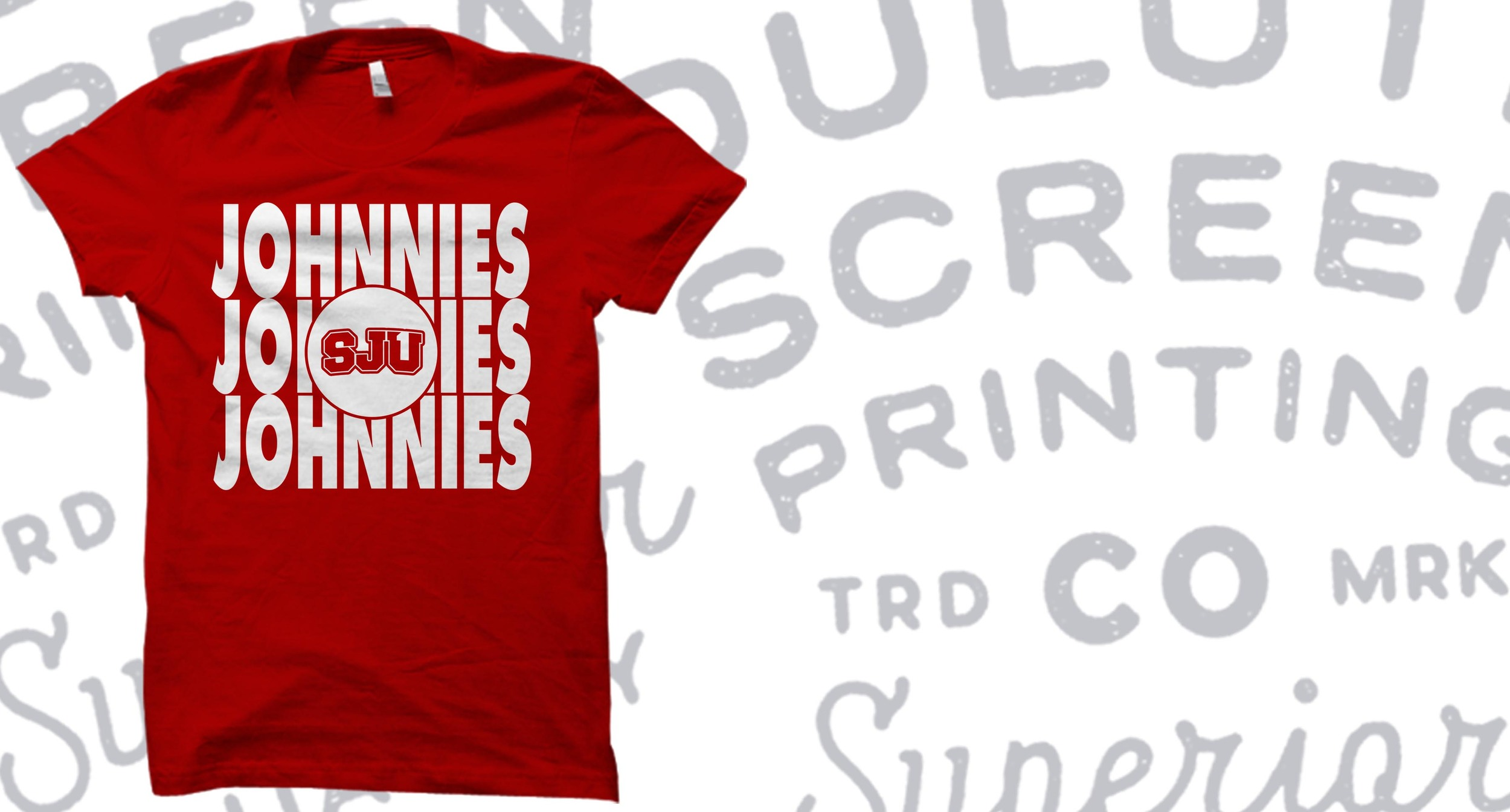 This is an example of our custom t-shirt work for the Saint John's Johnnies.