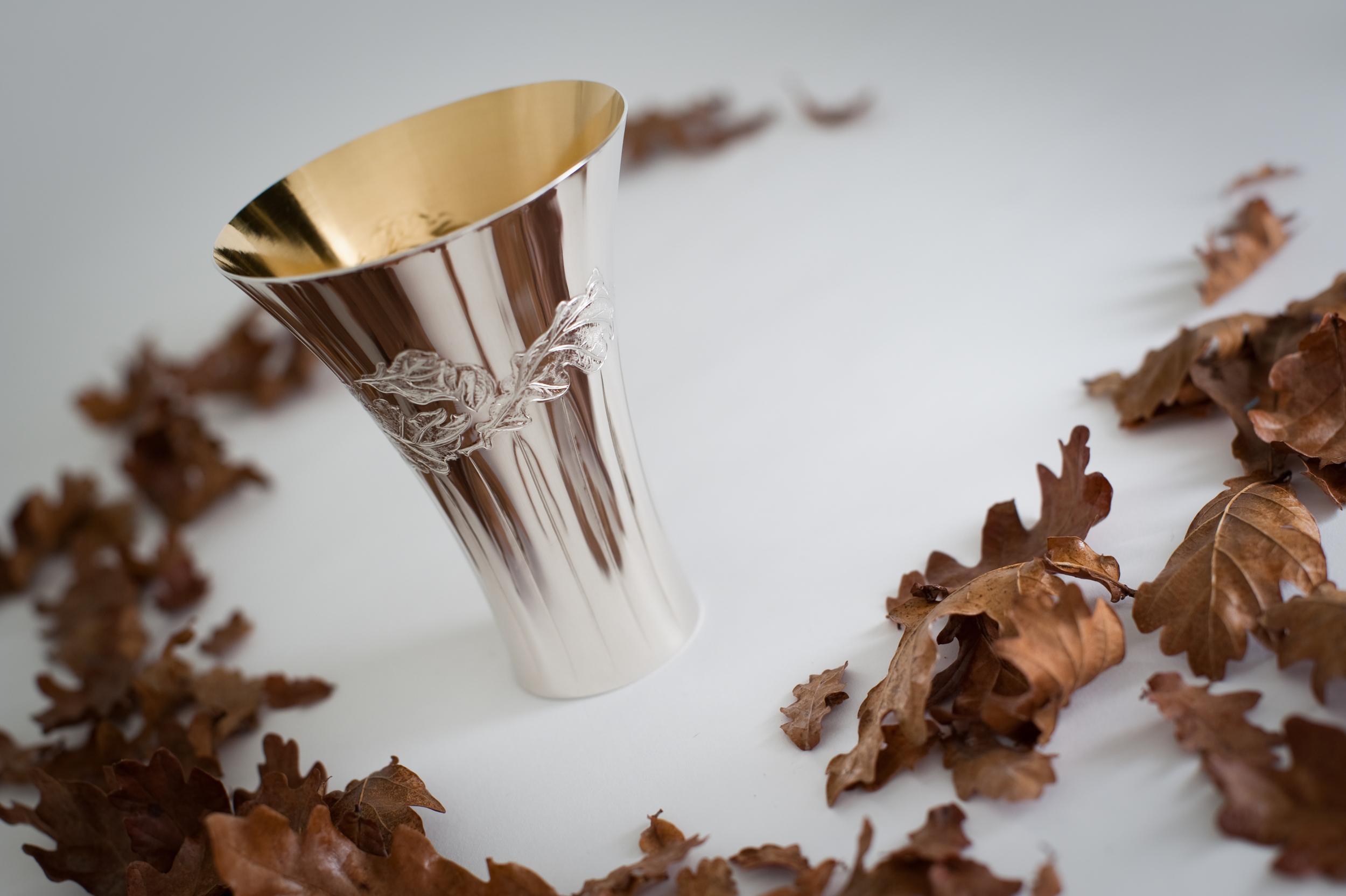Oak leaf beaker: The Goldsmiths' Collection
