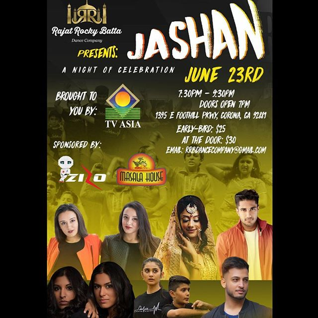 4 days left until @rajat_rocky_batta 's Jashan, get your tickets now! A fusion filled show you won't want to miss! #gotbhangra