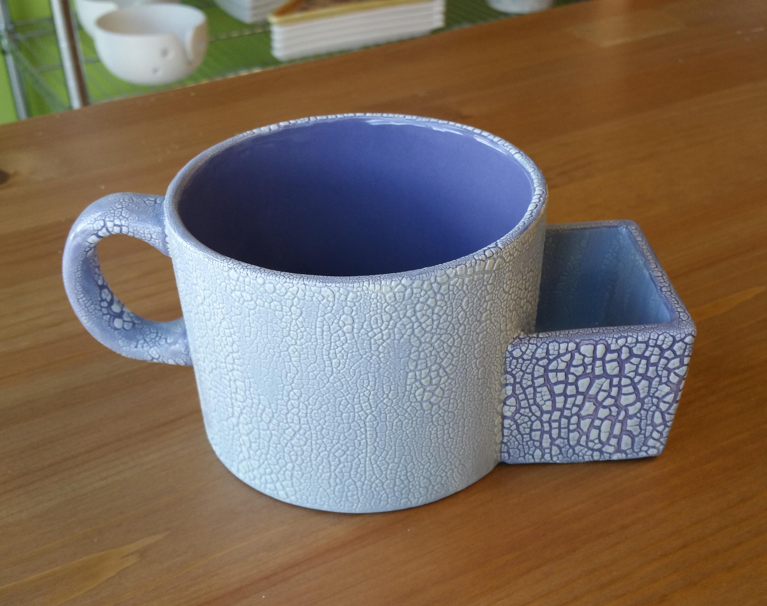 Crackle Soup-n-Cracker Mug