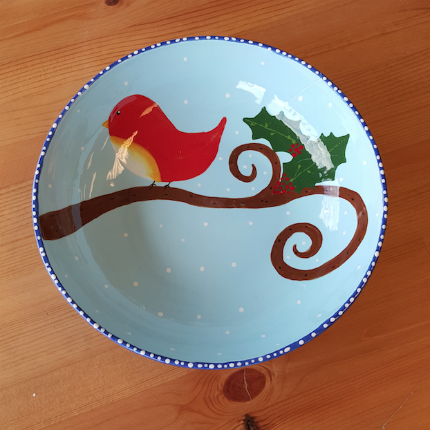 Holiday Bird Plate