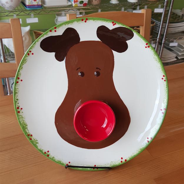 Reindeer Dipper Plate
