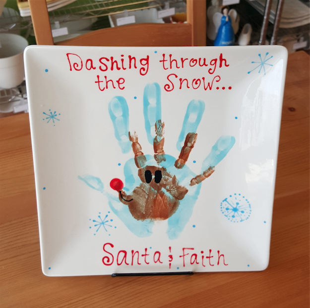 Holiday Handprint Plate