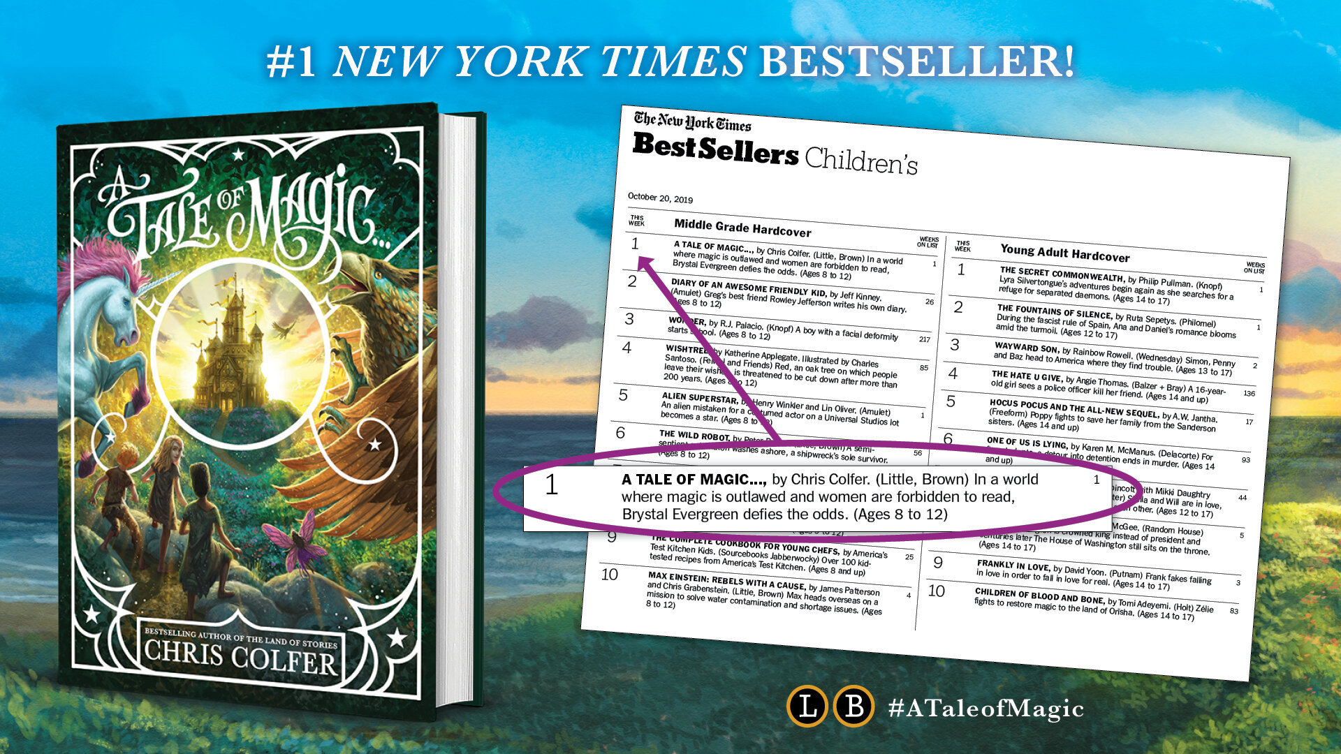 A Tale of Magic …is an INSTANT #1  New York Times  bestseller!