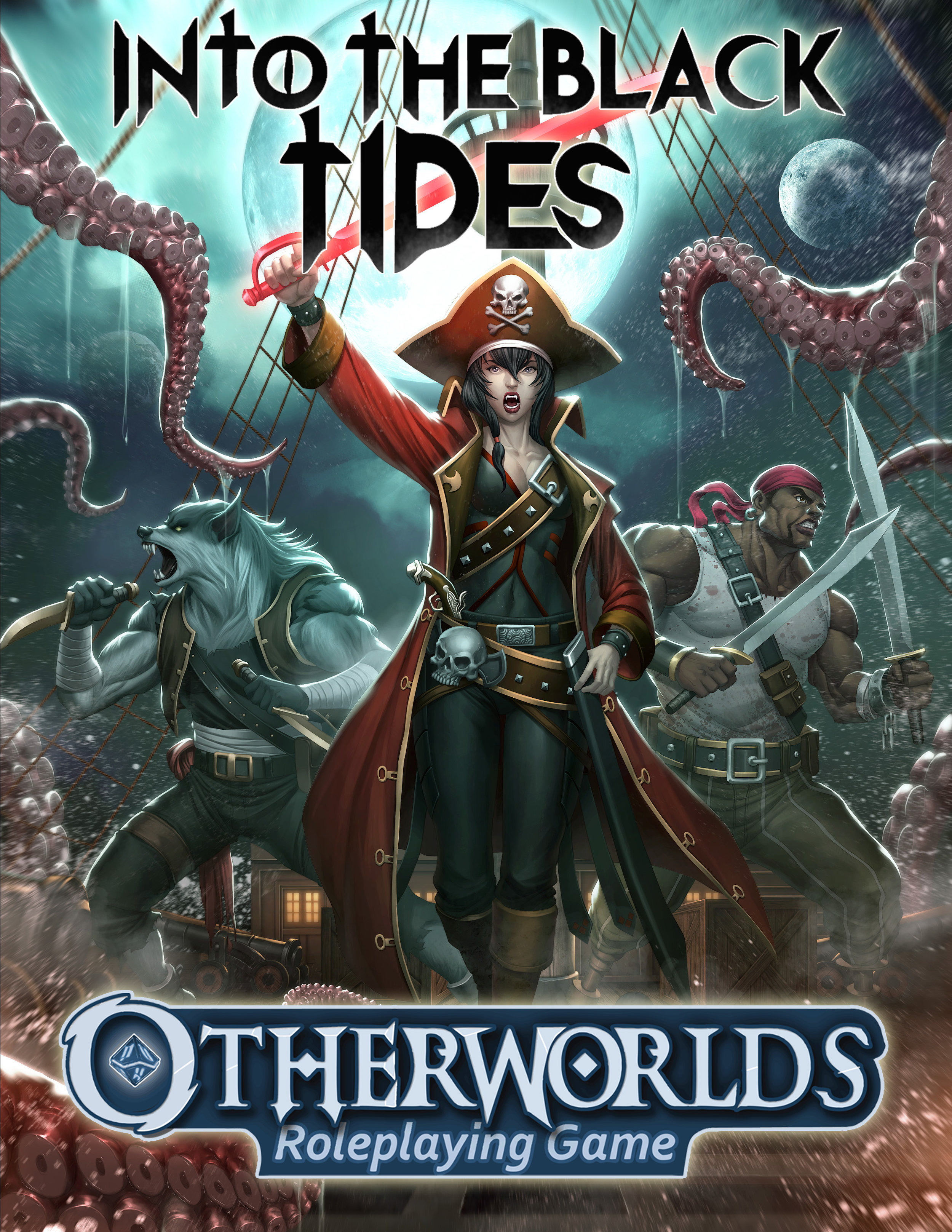 Otherworlds Tabletop RPG - Into the Black Tides Future Fantasy Adventure