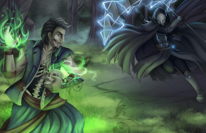 Otherworlds Nekros vs Grim Tabletop RPG Adventure