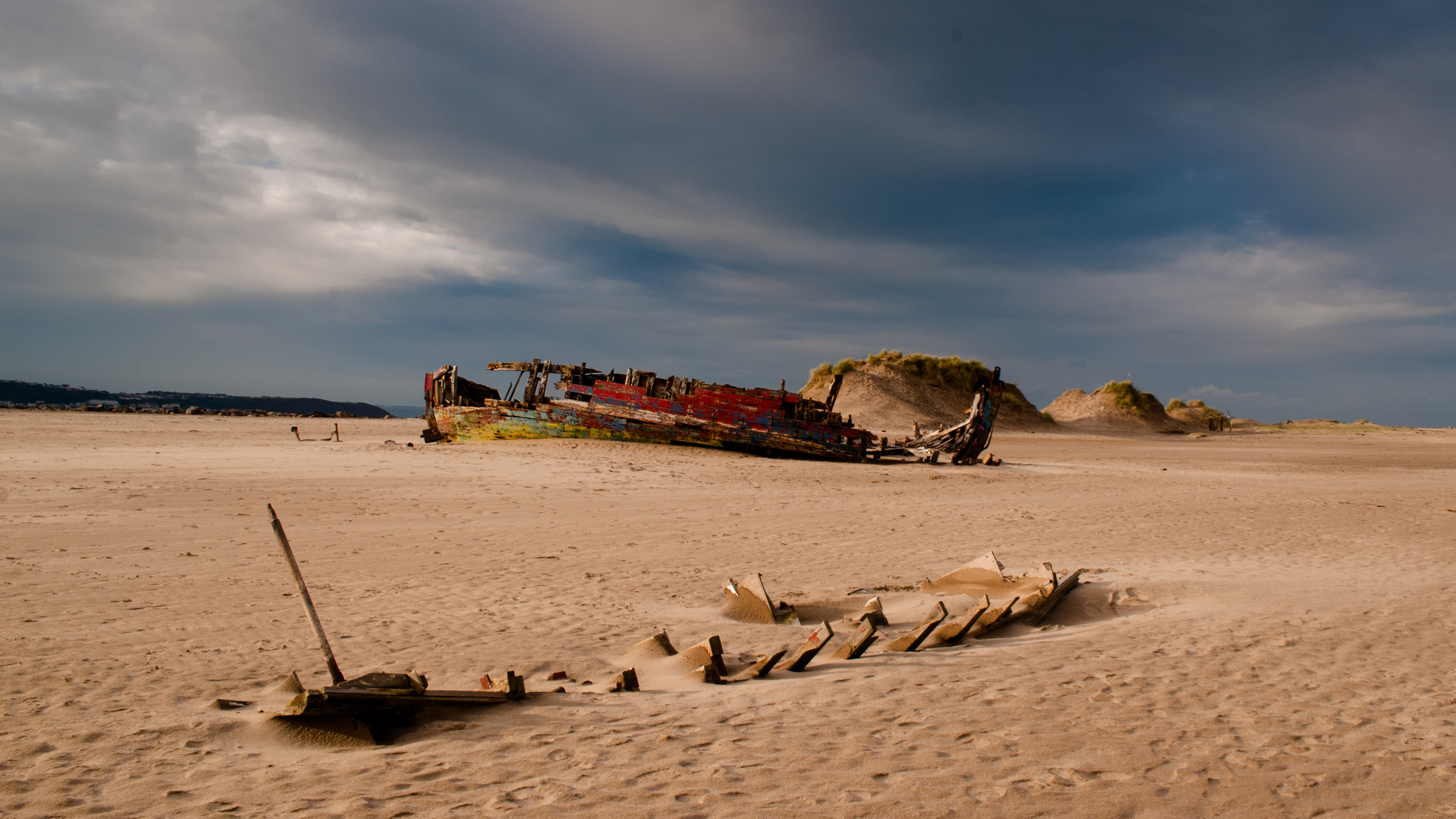 Shifting sands, North Devon