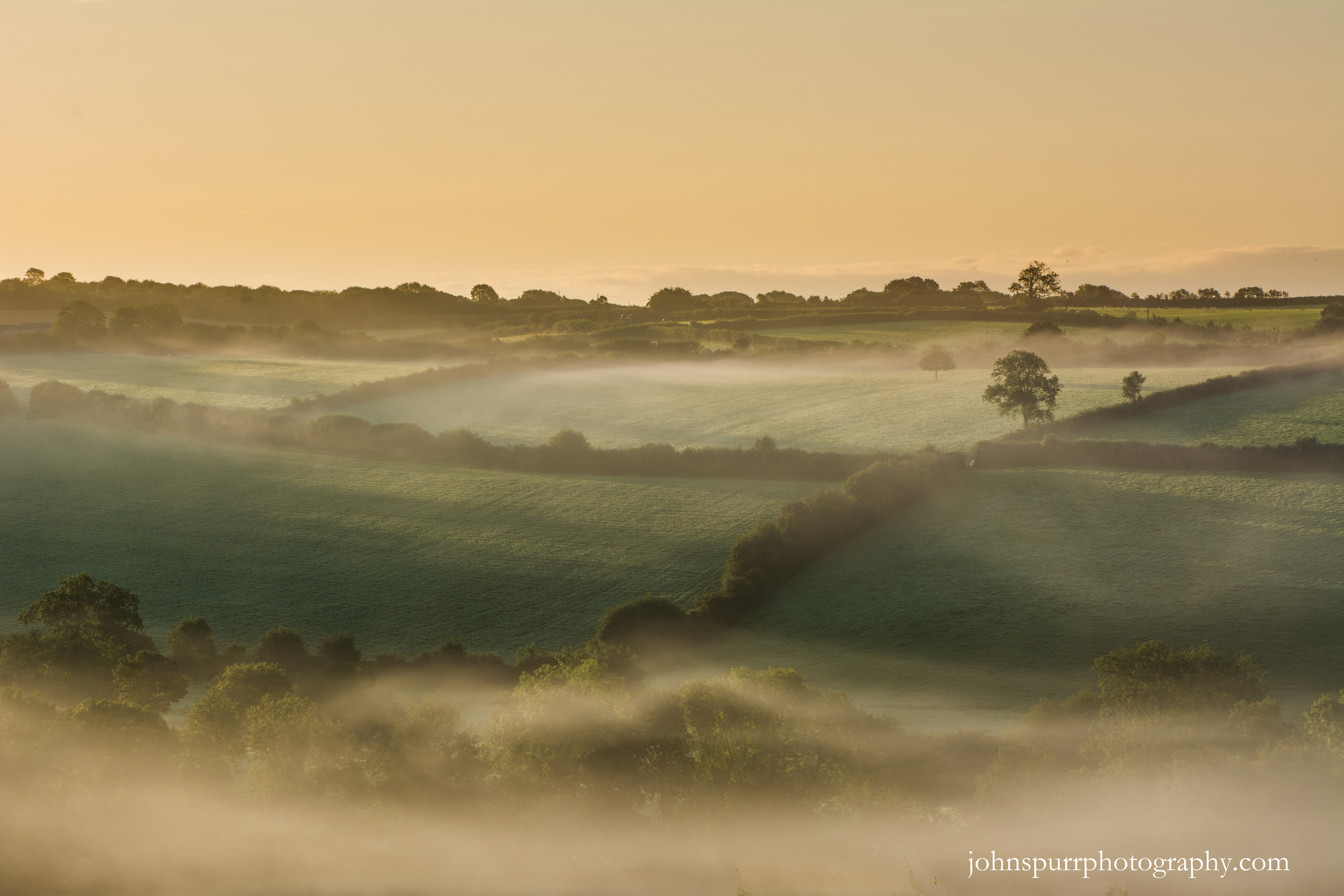 Dawn light over North Devon