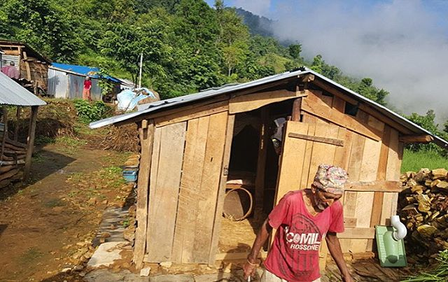 Under 6 weeks after the #nepalearthquake the people of #muchok had separated wood from stones and build shelters on the foundation of their houses that collapsed.  During the moonsoon you, @rebuildnepal and the partners below has given galvanised metal sheets for roof and walls  to 59 families in the Muchok VDC.  Roofs will be reused when they rebuild their homes.  In collaboration with #RebuildNepalFoundation NP #Helenandhard @tingstrup @atingstrup @abarenessfashion @undorn @wwitberg @madewithhart  #rebuildnepal #nepal