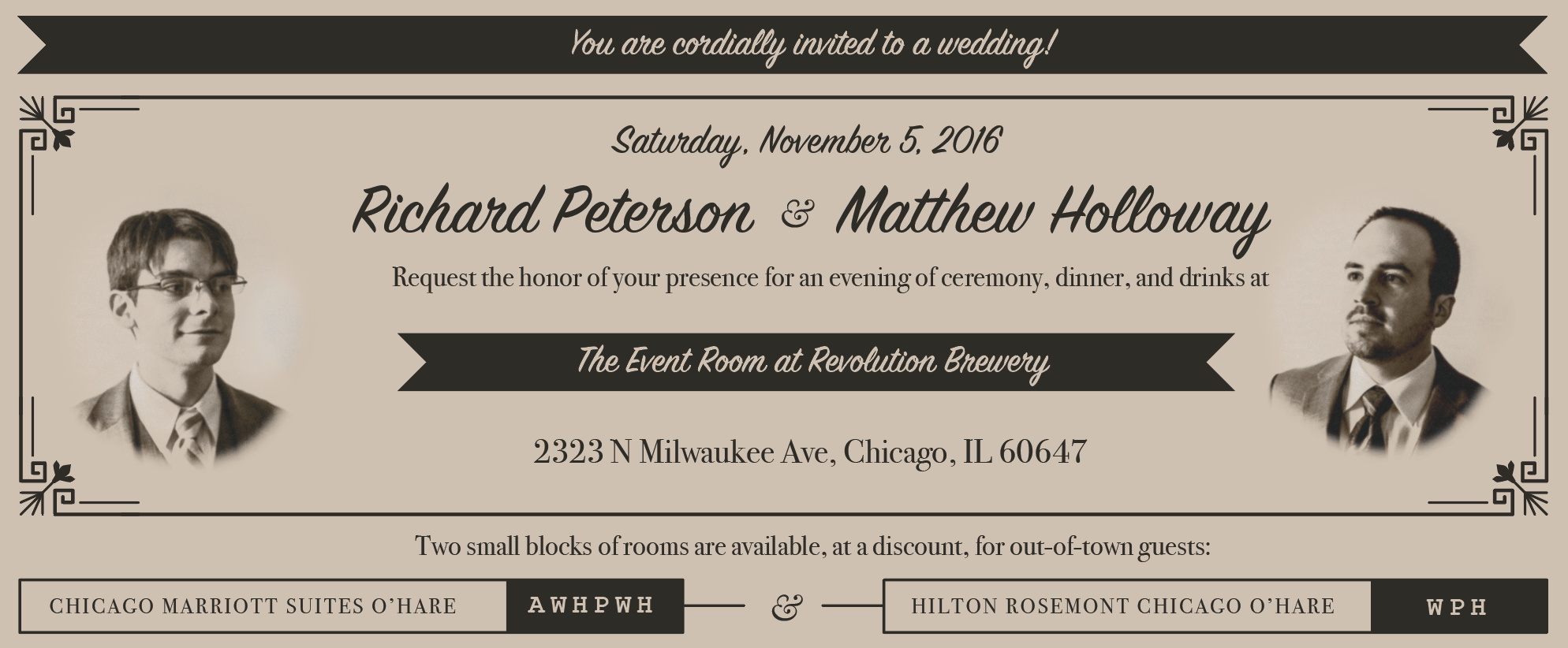 Front of the invitation card