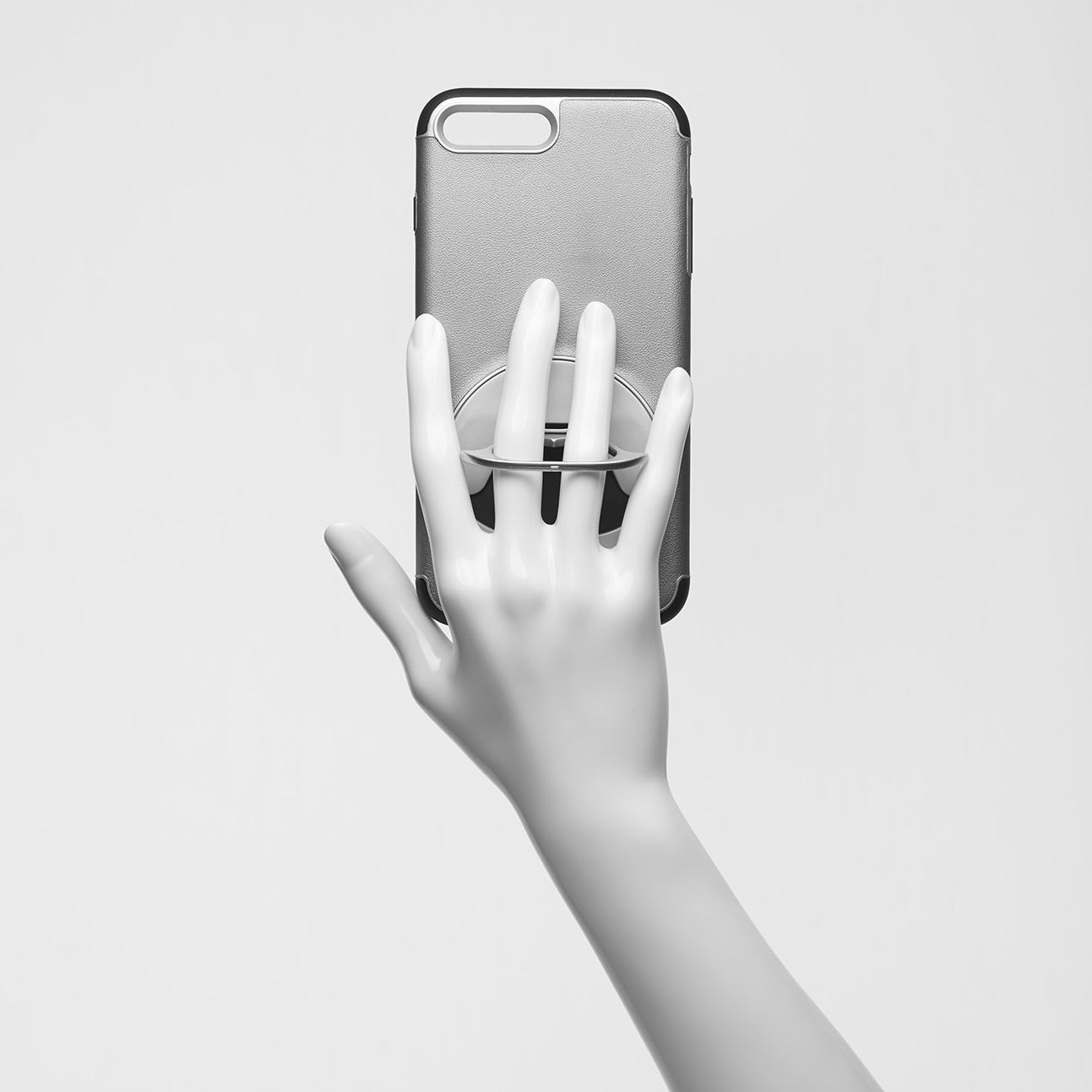 Component 3  / Photograph of the hand holding the phone used to composite into the final image. Used in the final picture of the purple phone case.