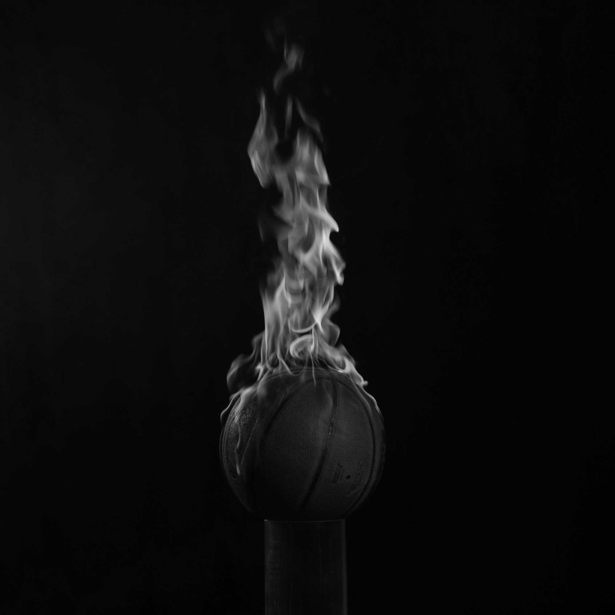 Photo 2  / Photograph of the basketball after we fist set it ablaze.