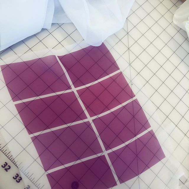 Fabric printing to find the perfect fuschia 💗