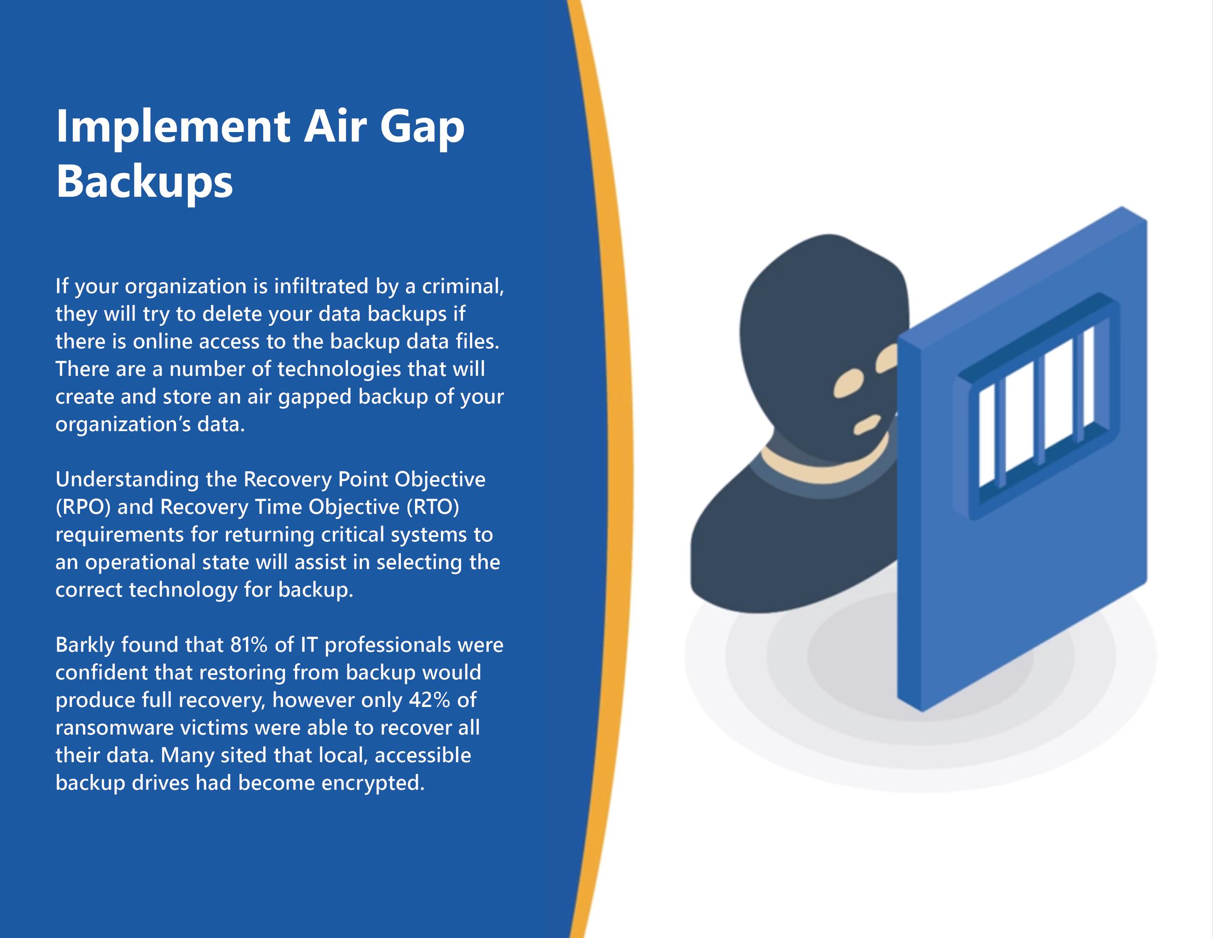 Implement Air Gap Backups