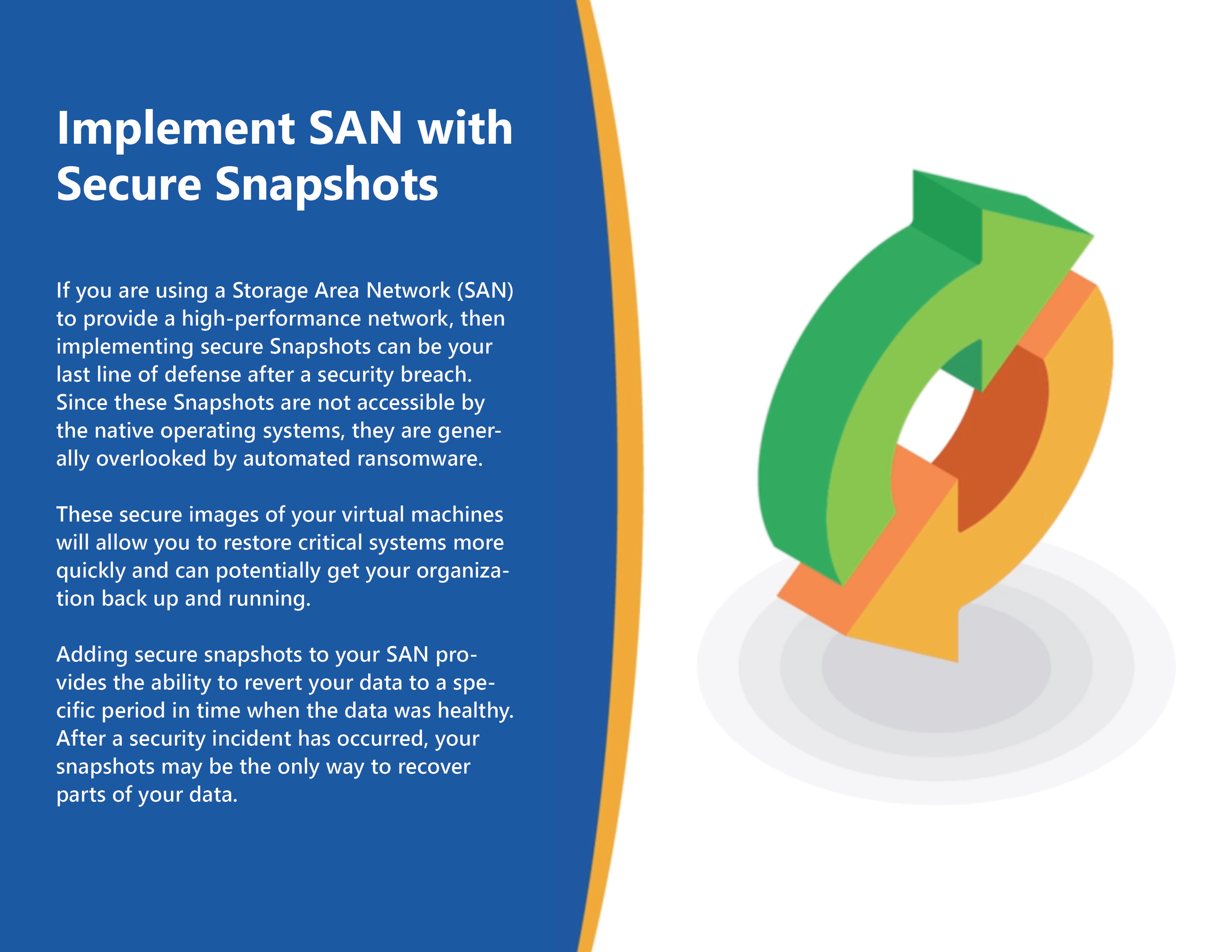 Implement SAN with Secure Snapshots