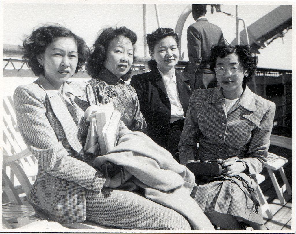 Photo credit:  Boat trip with Mary Sakoda, Kenny Sakoda, Fumiko Shitamae, photographed by George T. Sakoda. P-5214 [P-5214-b] ABCC Photograph Collection, Texas Medical Center Library, McGovern Historical Center.