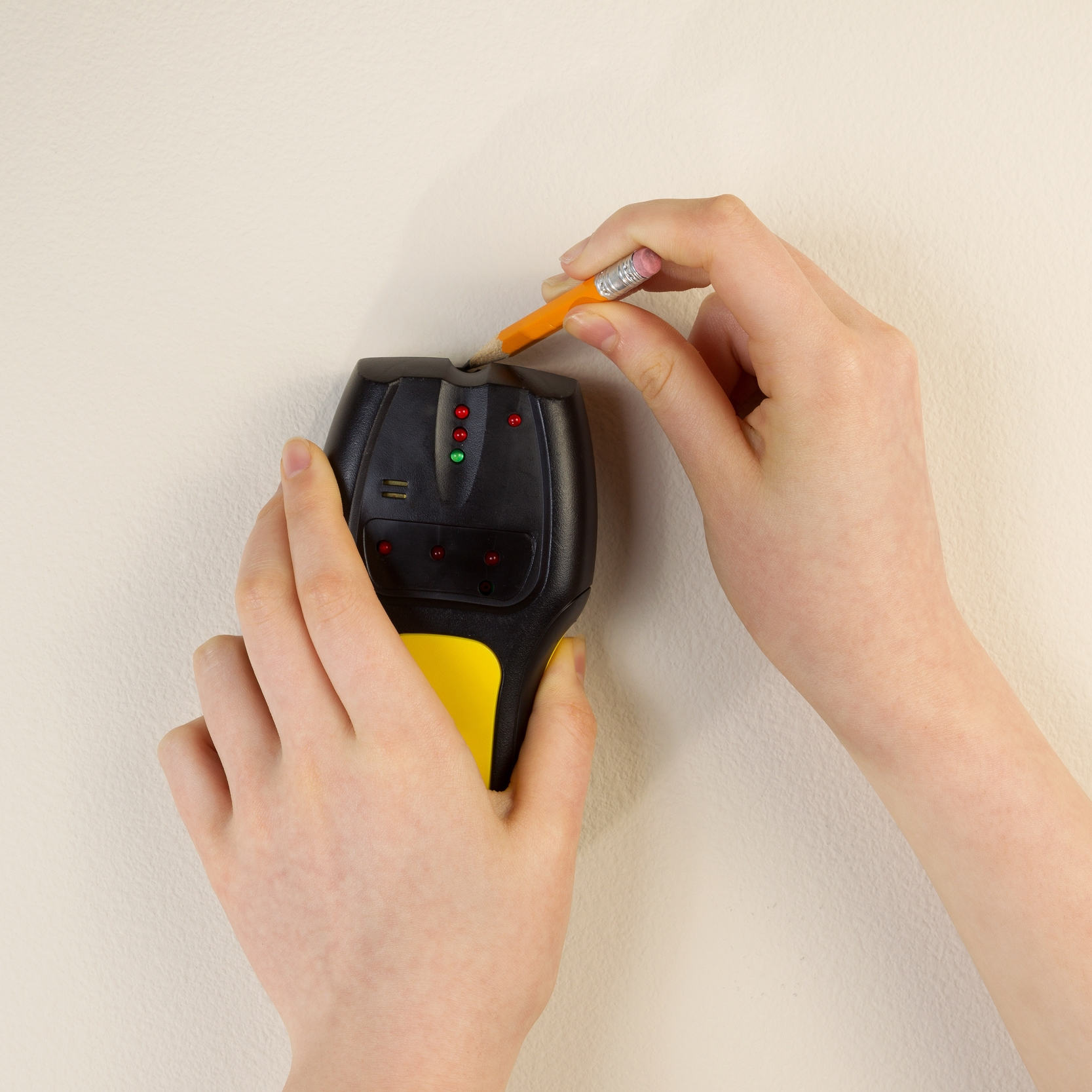 Use a stud finder for the safest stairway gate installation into a stud.