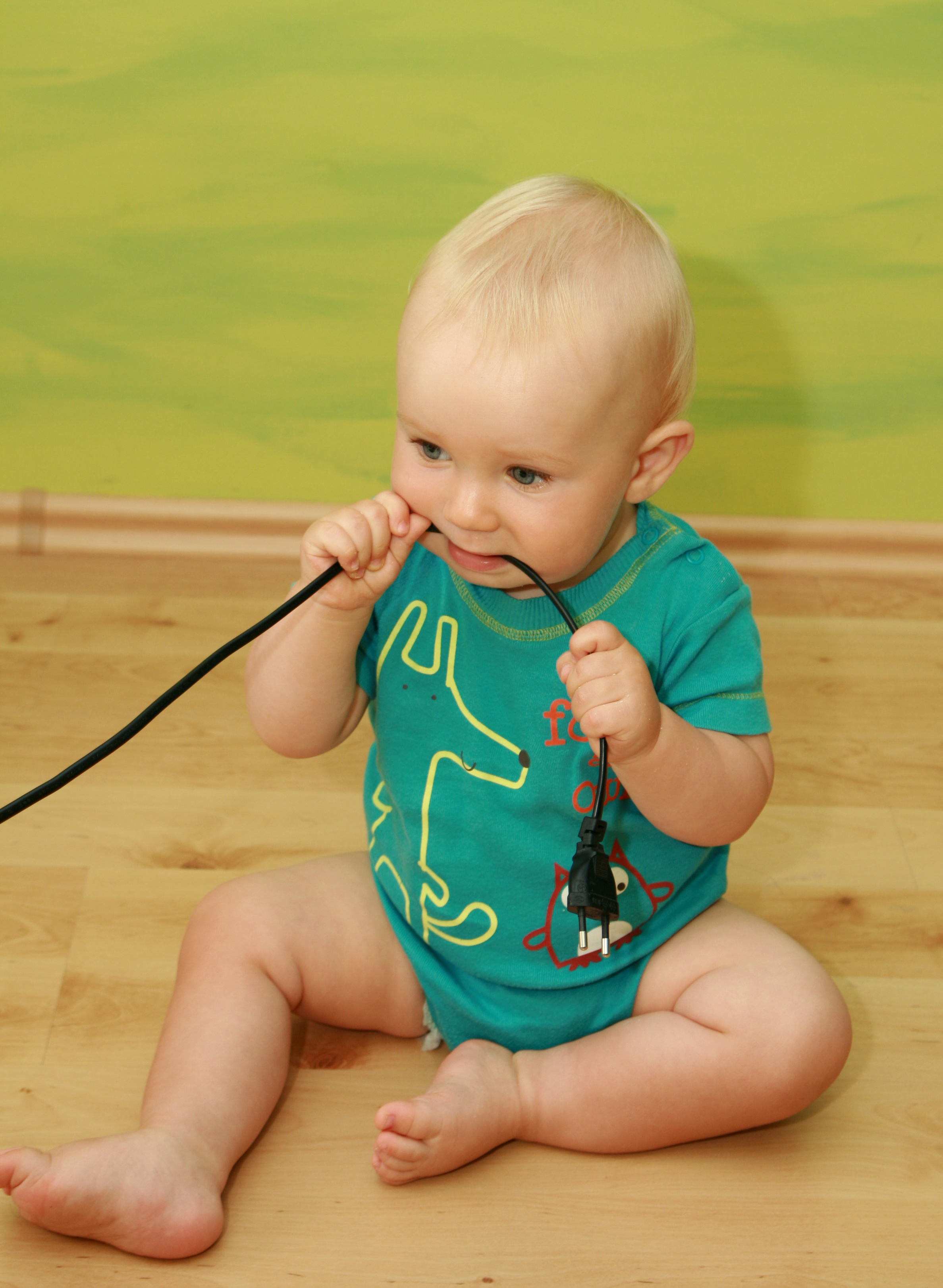 How to prevent your baby from chewing on cords.