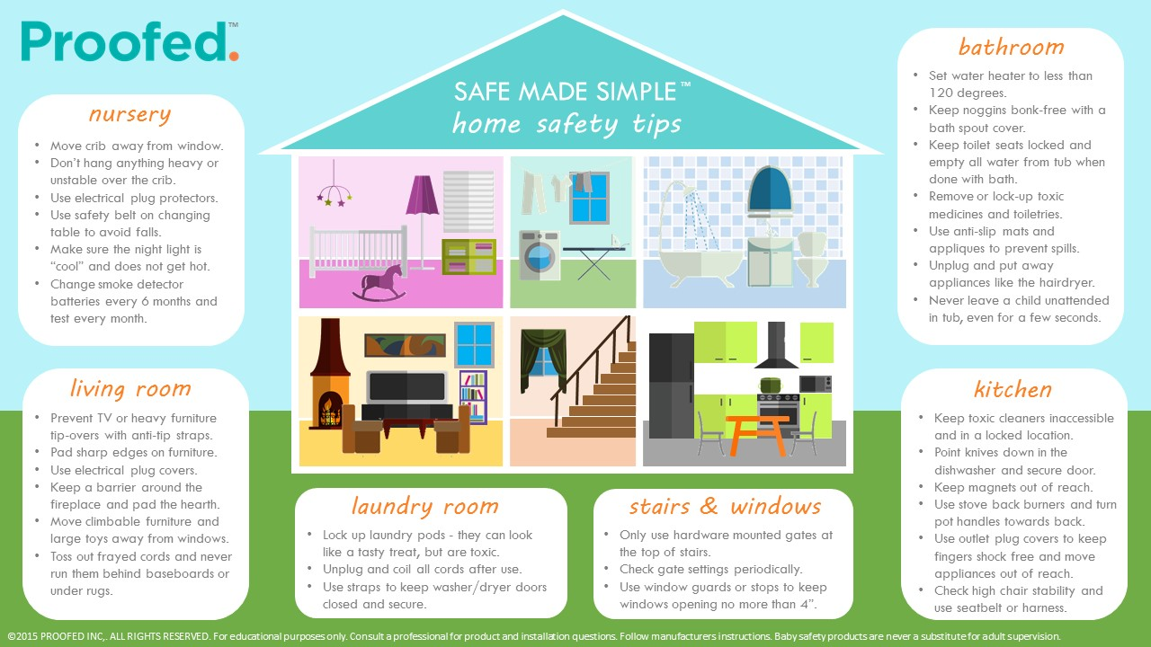 Room by room baby proofing tips for the home.