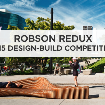 """VIVA VANCOUVER ROBSON REDUX - HONOURABLE MENTION - """"Greenest Block"""" transforms the block with paint to link the existing space together. The project encourages the public to question the differences between civic space and park space.Honourable Mention Design Team: D'Arcy Jones Architecture – D'Arcy Jones, Matthew Ketis-Bendena, Craig Bissell, Dea Knight, and Caralyn Jeffs"""