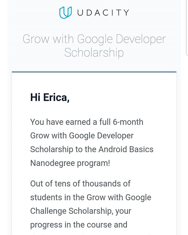 😊 yay 😊 #growwithgoogle #googleudacityscholars