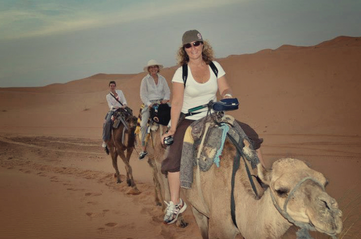 Riding Camels in Morocco after a night under the starts.