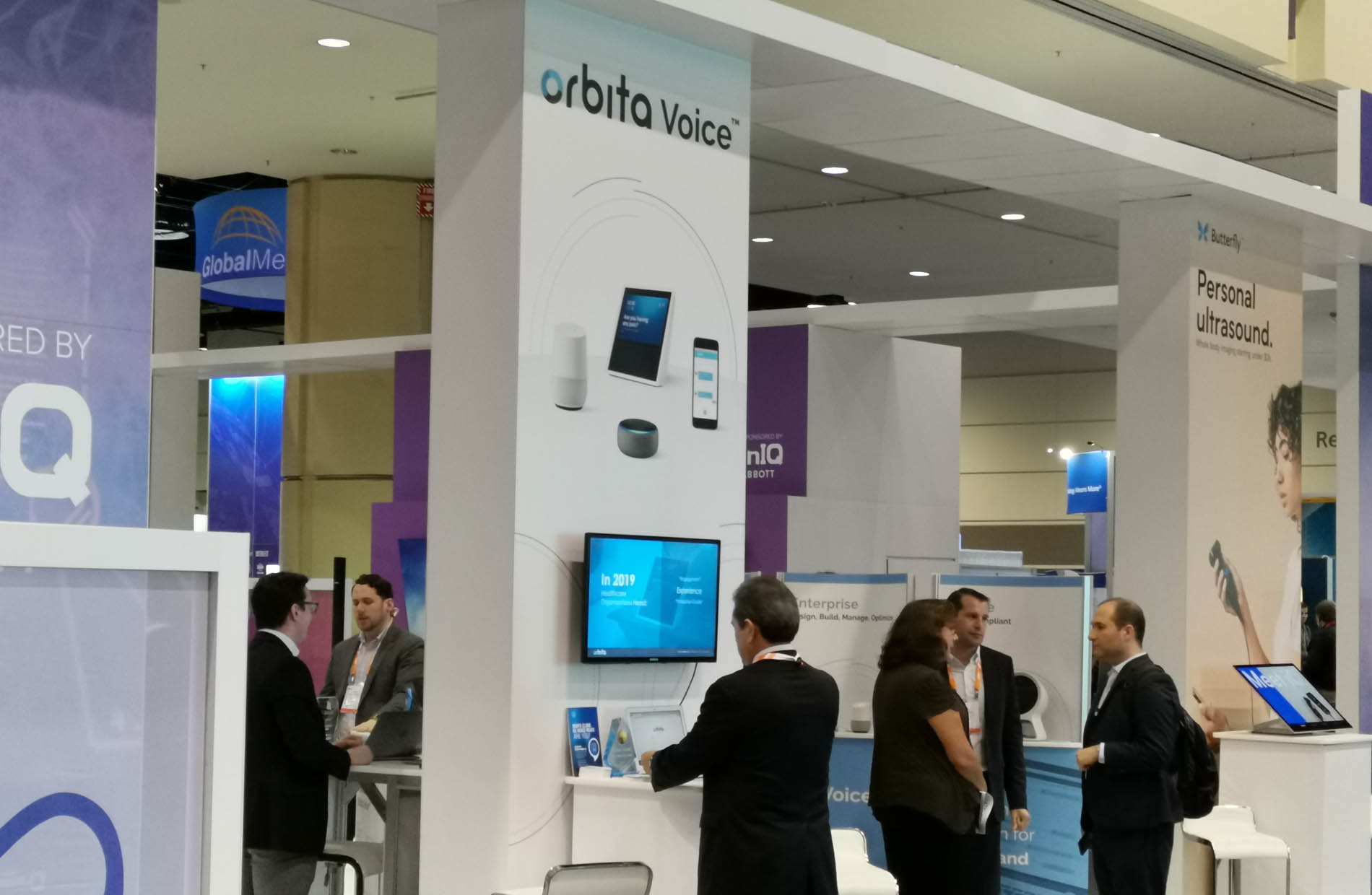 Voice-for-healthcare provider Orbita displays its wares at HIMSS. (Photo: Mike Feibus)
