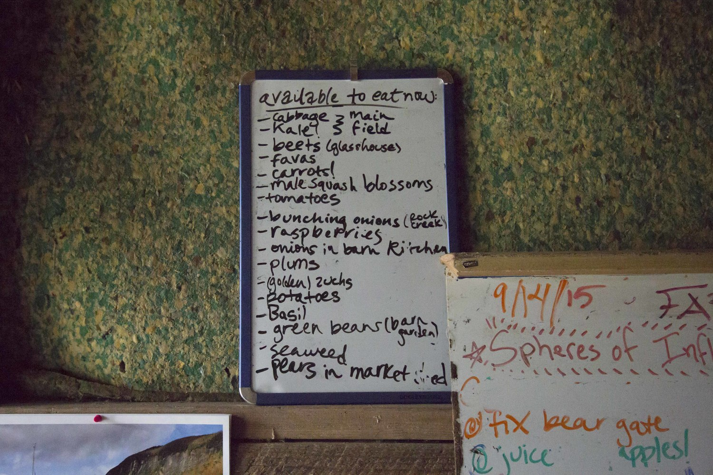 Breakfast, lunch and dinner menu. (California)