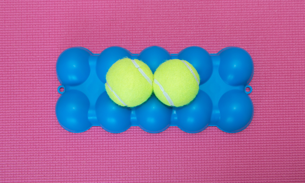 The Back King - Top Side 2 Centered Tennis Balls