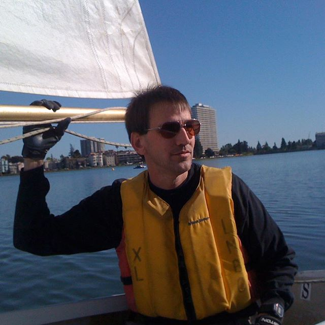 Richard Lee sailing on Lake Merritt during the  Prop 19 campaign. #oaksterdam #dontgetoutoftheboat #flashbackfriday
