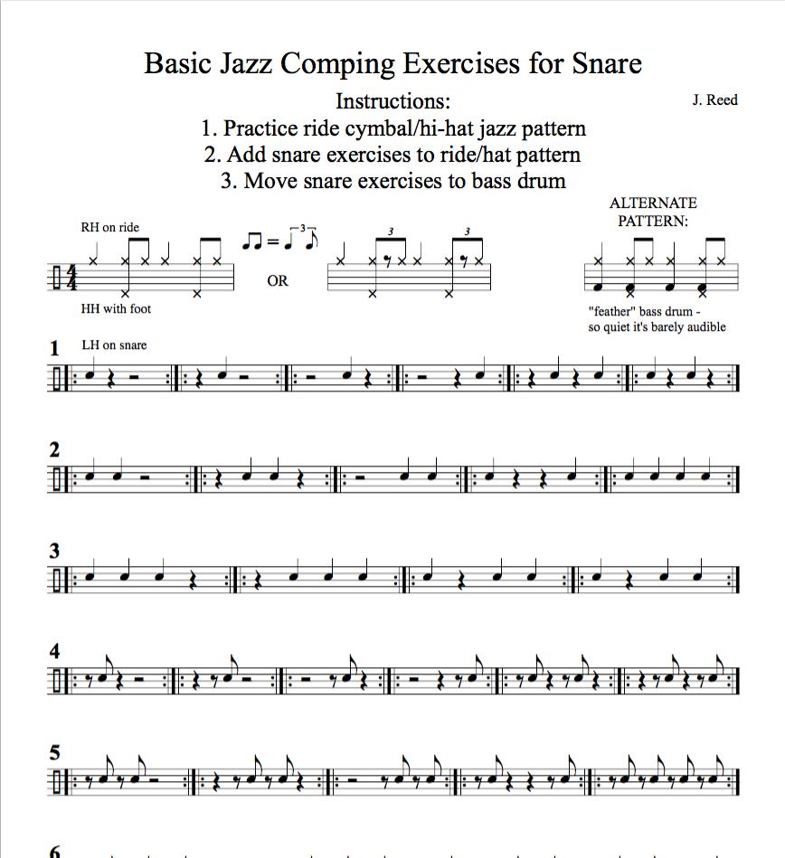 Basic Jazz Comping Exercises