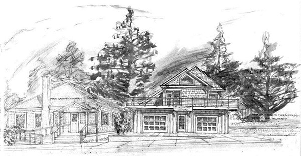 Rendering of the Winery at Manzanita (Building on right)