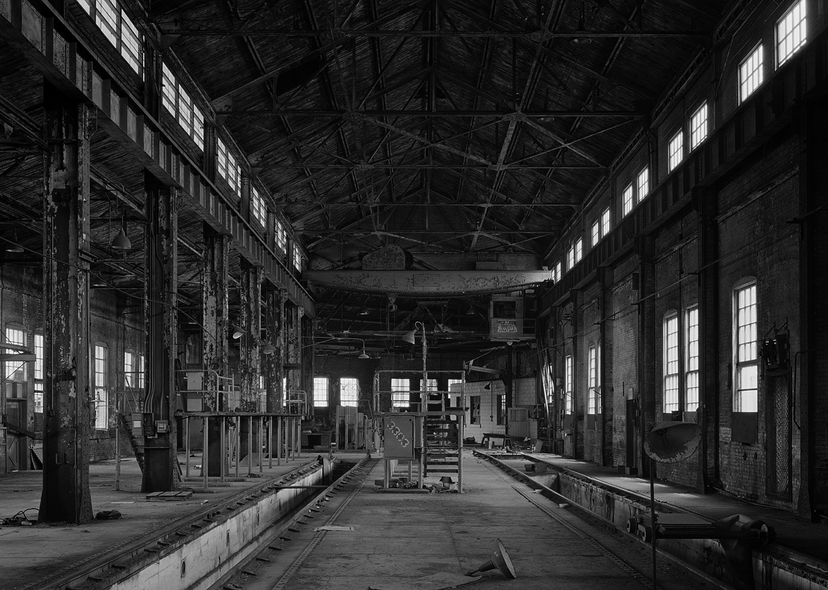Interior view, heavy repair and machine shop of the former McKeesport Connecting Railroad.