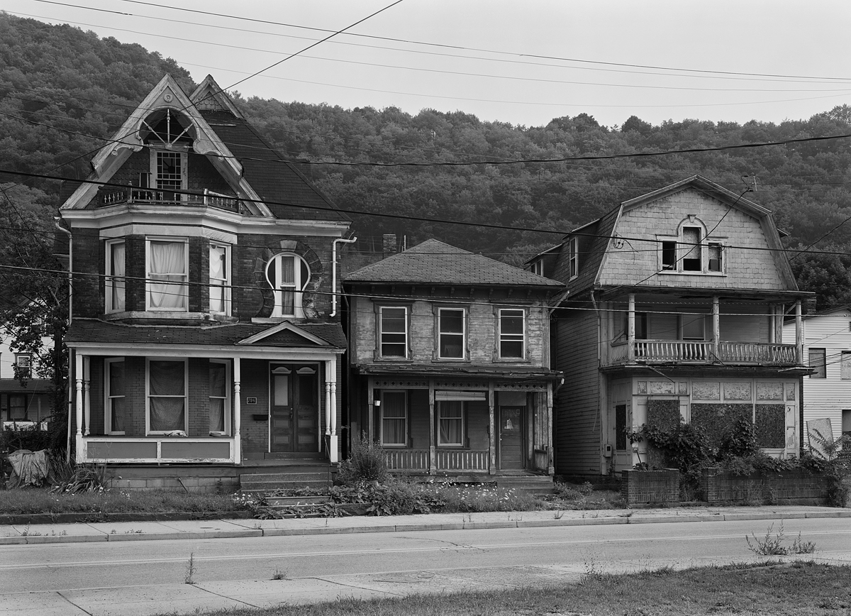 Three very unique houses along Railroad Street in the Conemaugh Section of Johnstown.