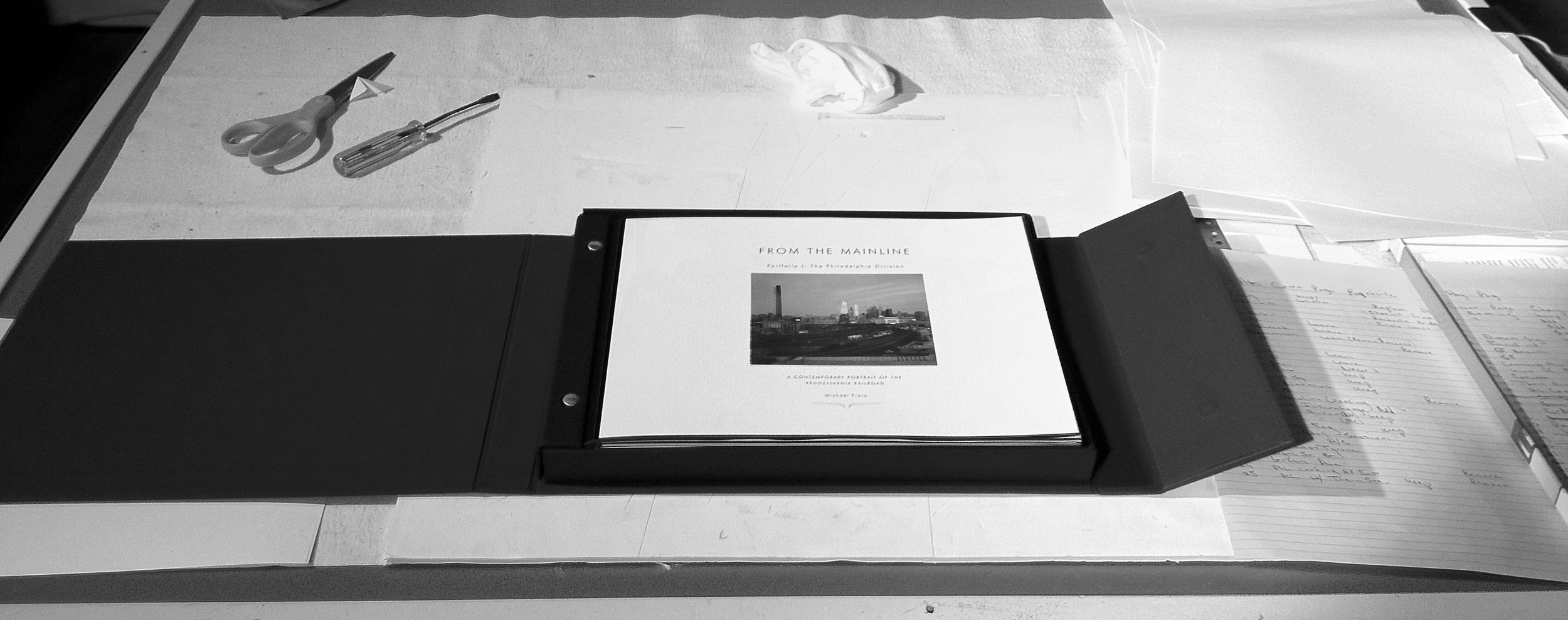 Finished product (1 of3) of over a week of average three hours of sleep to build three new portfolios of the Mainline Project for the trip to Lake Forest, Illinois  for this years Center for Railroad Photography and Art Annual Conference!
