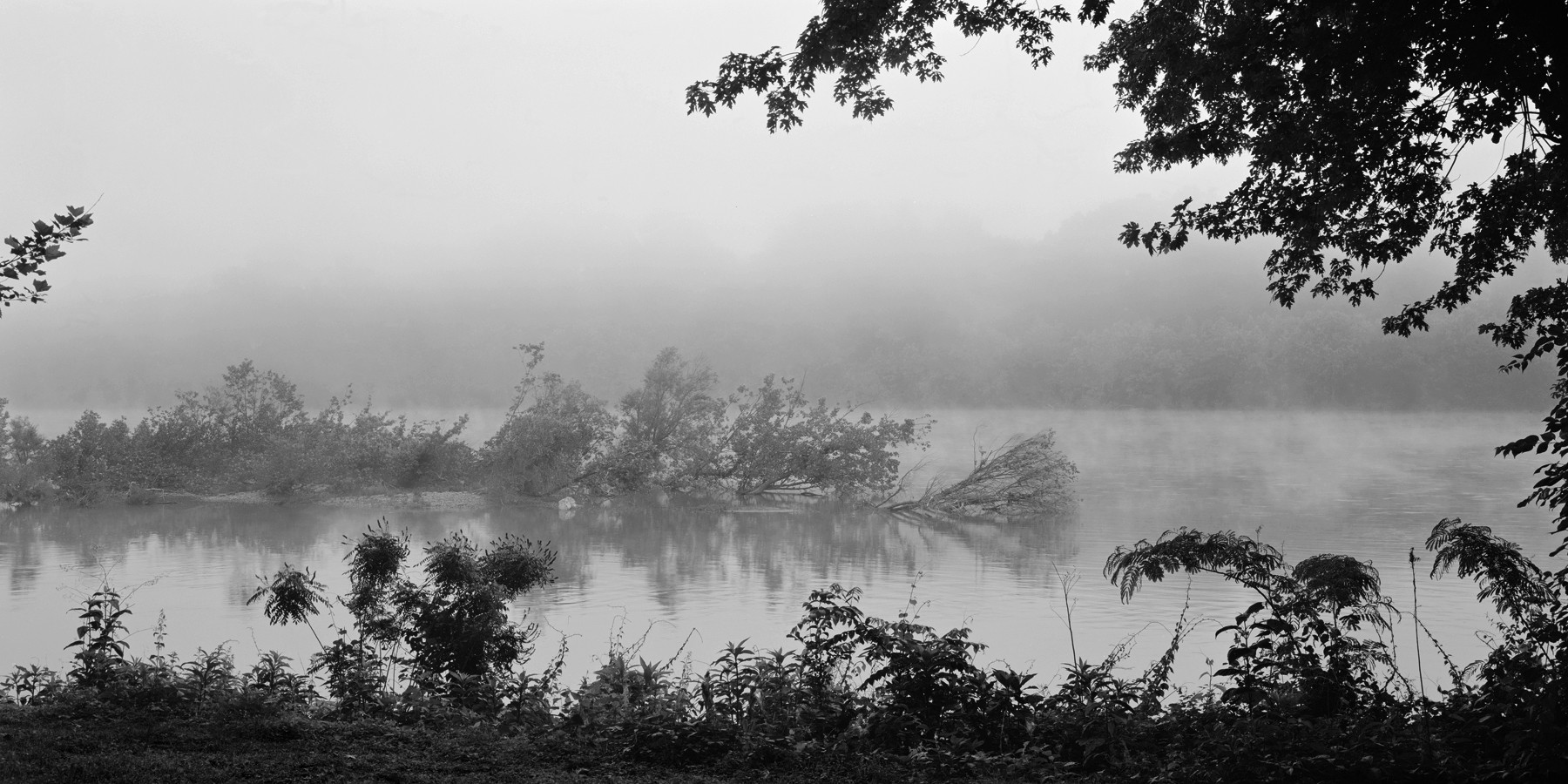 My work isn't just centered around the Pennsylvania Railroad, it also explores places of natural beauty and of a historic nature. The summer is often a relaxed time when I venture out with my family to explore new places and revisit old favorites, sometimes to make photos, but more often just to share the diverse history and landscape with the kids.  Delaware River at Washington's Crossing, Pennsylvania.