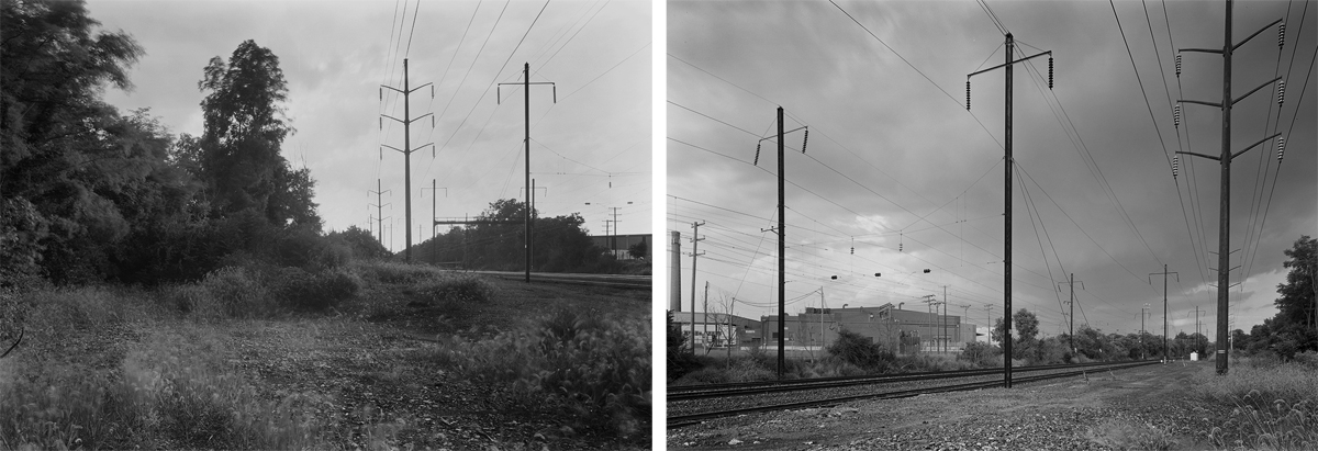 As built the Lancaster Cut-Off was intended to bypass traffic that did not service the City of Lancaster, today the route is the sole surviving main line for Amtrak and Norfolk Southern operations based out of Dillerville. On the east end of the Cut-Off the grade of the Old Line can be spotted at former CG interlocking where the two lines split. (L) In the brush to the left you can make out the diverging path of the Old Main in the gap in the trees. (R) The expansive area around the main looking east is where the Old Line connected to the Cut-Off and main line east. Just out of view is the Conestoga River Bridge.