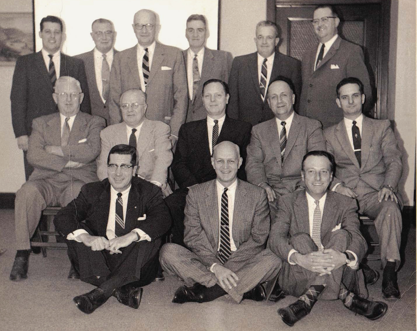 David St. John Greer, pictured here in the center of the middle row (dark suit) was a devoted Pennsylvania Railroad employee who purchased the Gutekunst album after the ill fated merger of the PRR and rival New York Central in 1968. After being in their possession for over 45 years the Greer family decided to donate the album to the Library Company of Philadelphia where it will  join a sizable collection of Gutekunst's work along side the William H. Rau commissions for the PRR. Image courtesy of the Greer Family.