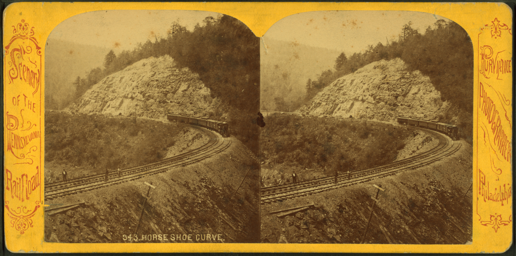 Horseshoe Curve, William T Purviance, Circa late 1860's. Collection of the New York Public Library.