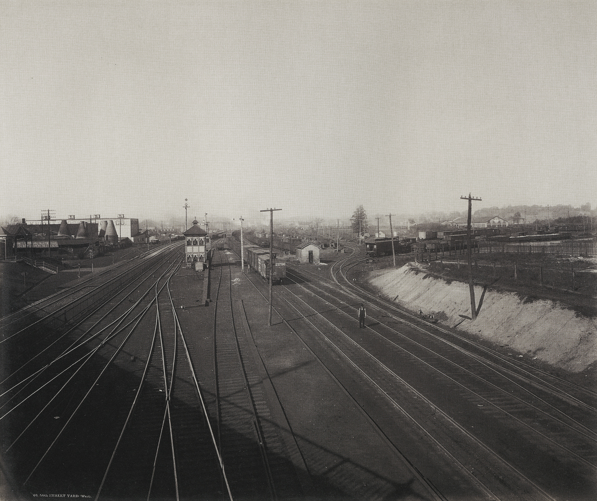 Philadelphia, 50th Street Yard (West), c. 1891. William H. Rau. The Altoona Public Library Collection