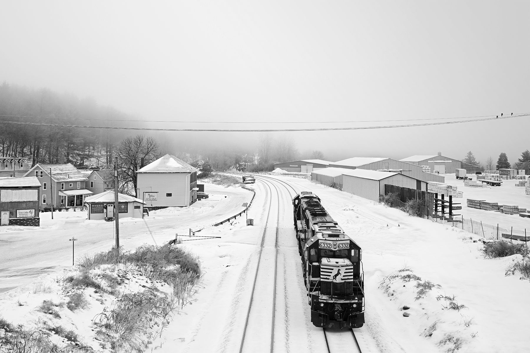 A light set of Norfolk Southern helper locomotives nears the Allegheny Summit in Gallitzin, Pennsylvania, on the original line opened by the PRR in 1854.