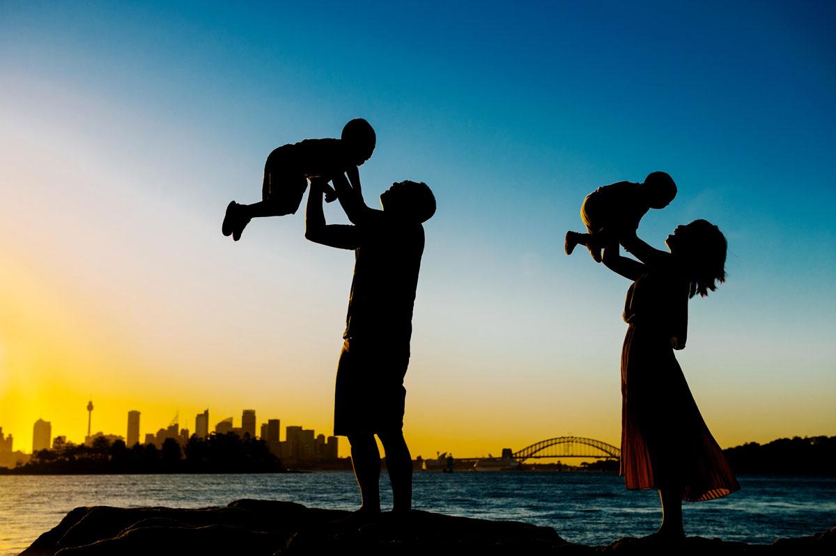 Sydney scenery family session