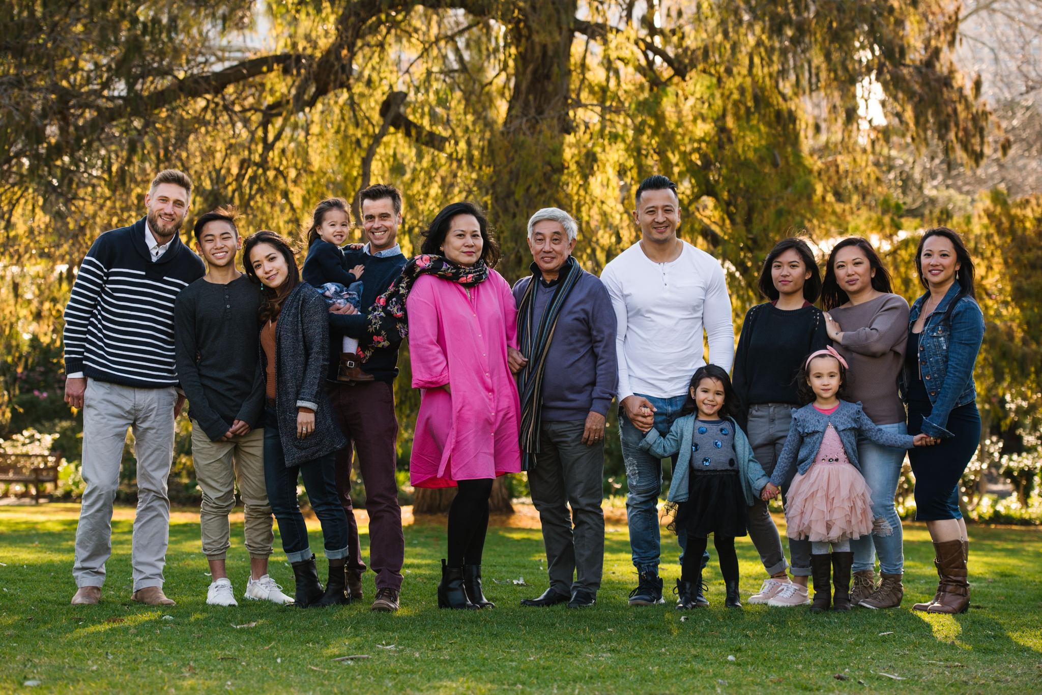 Large family photograph Royal Botanic Gardens