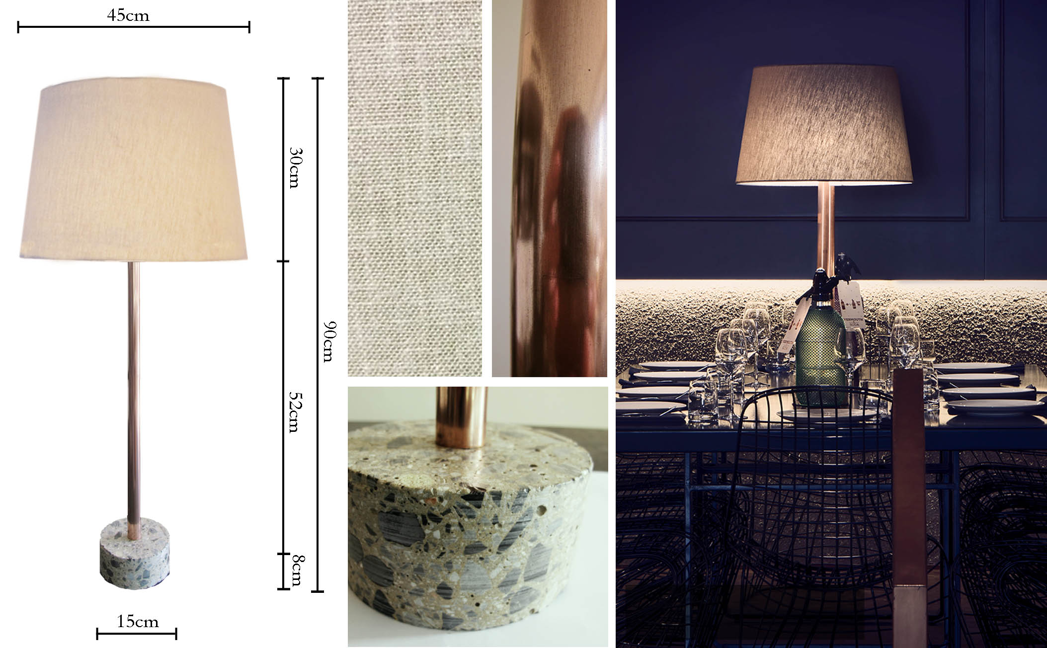 The Kingston - Beige Table Lamp