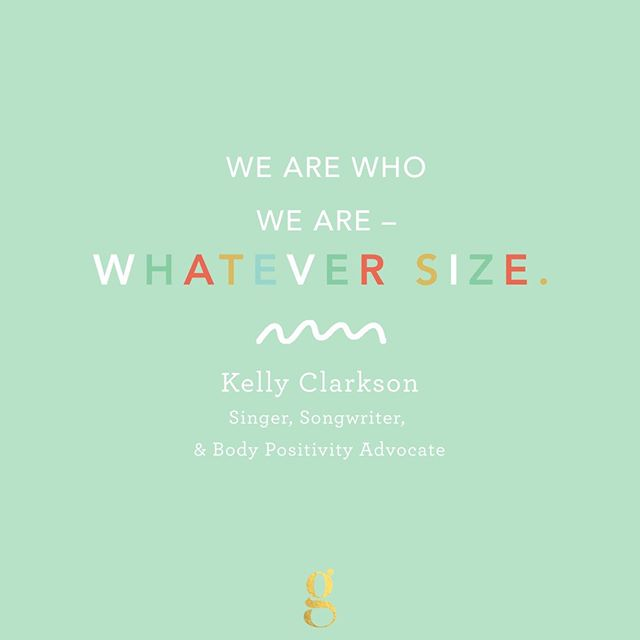 In the thick of bathing suit season here in Ohio, so we are channeling these words (and so many more) from #FearlessFemale @kellyclarkson. The singer has never shied away from talking about her weight and why it should not matter.